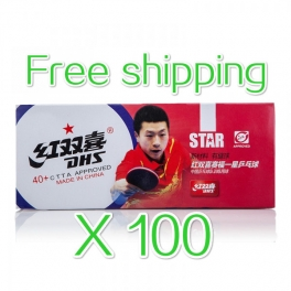 DHS Cell-Free Plastic 40+ 1 Star Ball x100