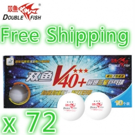 Double Fish ABS Material V40+ VOLANT 3 Stars Ball x72
