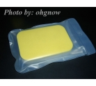 Rubber Cleaning Sponge Dual Surface Yellow